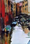Fanch Moal - Dans Carnarégio - Venise - Acrylique sur toile 33 x 46