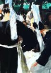 Fanch Moal - Bigoudenes - Acrylique 65 x 46