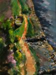 Fanch Moal - Derniere halte  - Acrylique 65 x 46