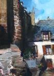 Fanch Moal - La petite cour - Acrylique 65 x 46