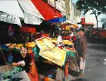 Fanch Moal - Marche Rue Mouff - Acrylique 65 x 50