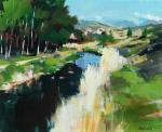 Fanch Moal - La riviere - Acrylique 41 x 33