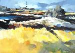Fanch Moal - Phare du Creach - Ouessant - Acrylique sur toile 46 x 33