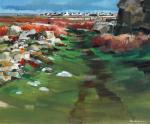 Fanch Moal - Plas ar skoul - Huile sur toile