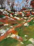 Fanch Moal - Huelgoat - Huile sur toile 41 x 27