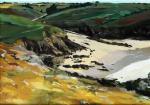 Fanch Moal - Pors Théolen - Acrylique sur toile 65 x 46 (vendue)